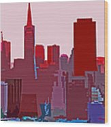 Frisco Skyline Wood Print