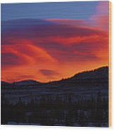 Frisco Sunrise Wood Print
