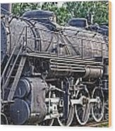 Frisco Train Locomotive Three Wood Print