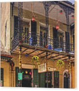 Fritzel's European Jazz Pub New Orleans Wood Print