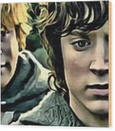 Frodo And Samwise Wood Print