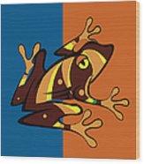 Frog 01 Wood Print