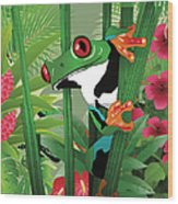 Frog 02 Wood Print