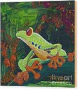 Frog Heaven Wood Print