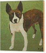 Frog The Dog Wood Print