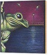 Frog Wars Wood Print