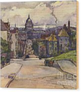From A Hilltop In San Francisco By  Rowena Meeks Abdy Early California Artist C 1906 Wood Print