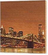 From Brooklyn To Manhattan Wood Print