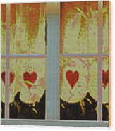 From French Riviera Window With Love Wood Print