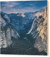 From Glacier Point Wood Print