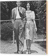 From Left, Spouses Robert Walker Wood Print