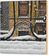 From My Fire Escape - Arches In The Snow Wood Print