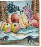 From My Window Wood Print by Mindy Newman