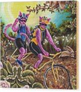 From Purple Cat Illustration 1 Wood Print