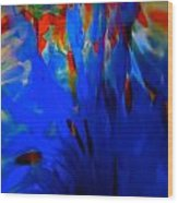 From The Deep Blue Wood Print
