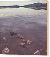From The Depth Of Silence. Ladoga Lake  Wood Print