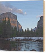From Valley View At Sunset Wood Print