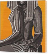 Front And Side Egyptian Pharoah Wood Print