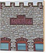 Front Of Calumet Hotel-1887  In Pipestone-minnesota Wood Print