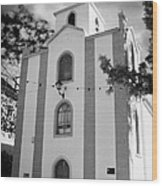front of the church in Los Banquitos Tenerife Canary Islands Spain Wood Print