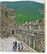Front Of Theater In Ephesus-turkey Wood Print