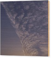 Front Passing Through Sky Southern Alps Wood Print
