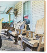 Front Porch On An Old Country House 2 Wood Print