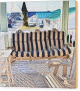 Front Porch On An Old Country House  3 Wood Print