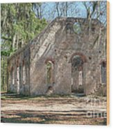 Front View Of The Chapel Of Ease Wood Print