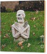 Front Yard Halloween Graveyard Wood Print