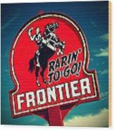 Frontier Land Wood Print