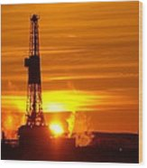 Frontier Nineteen Xto Energy Culbertson Montana Wood Print