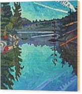 Frood Lake Outlet Wood Print