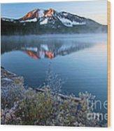 Frost At Paulina Lake Wood Print