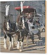 Frost Fair Horses Hastings Wood Print