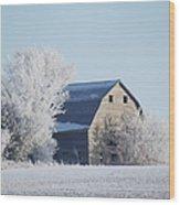 Frost Farm Wood Print