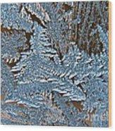 Frost Macro Wood Print
