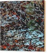 Autumn Frost Wood Print