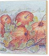 Frost on the Pumpkin Wood Print