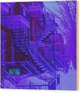 Frost On  Winding Staircases Wood Print