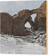 Frosted Double Arch Wood Print