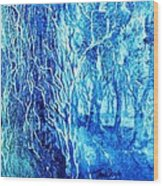 Frosted Forest  Wood Print