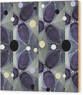 Frosted Purple Flower Wood Print
