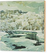 Frosted Trees Wood Print by Jonas Lie