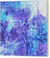 Frosted Window Abstract I   Wood Print