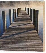 Frosty Docks 3 Wood Print
