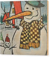 Frosty Family Wood Print