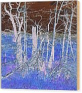 Frosty Forest Wood Print