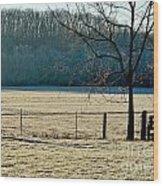 Frosty Morning Winter Landscape Wood Print