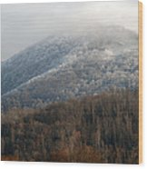 Frosty Mountain Wood Print